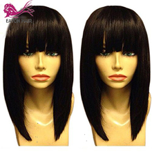 EAYON Bob Wig 13x6 Short Lace Front Human Hair Wigs With Bangs For Women Pre Plucked Straight Brazilian Remy