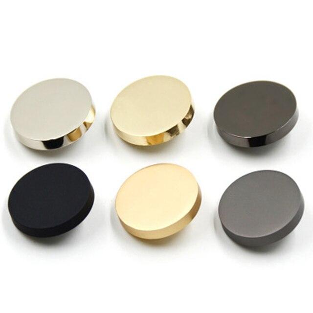10 יח'\חבילה מתכת כפתור אבץ סגסוגת כפתור שוק עבור מעיל מעיל מעיל רוח כפתורי אטב ציפוי מתכת הצמד תפירת ספקי