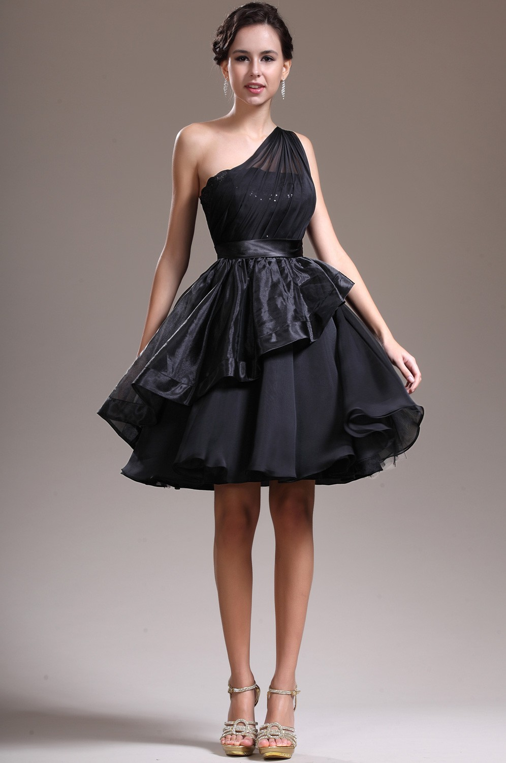 Aline Black Cocktail Dresses