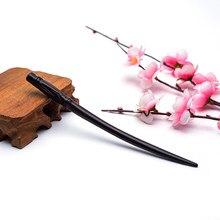 Bâtonnets en bois de santal naturel pour femmes, épingle à cheveux longue en bambou, accessoires pour cheveux, bijoux, nouveau, 2019