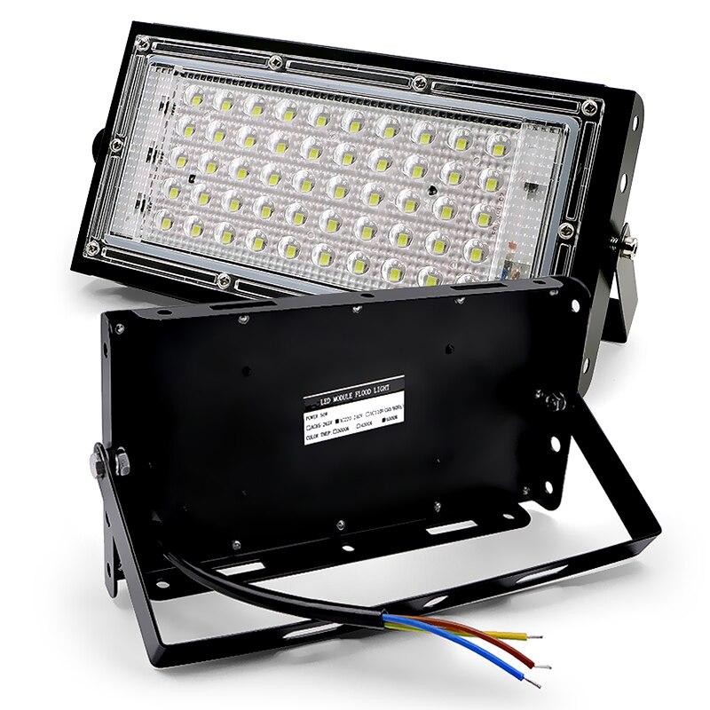 Luz de Inundação LEVOU 50W perfeito poder 220V 240V à prova d' água Paisagem Iluminação LED Projector Lâmpada de rua IP65 À Prova D' Água holofotes