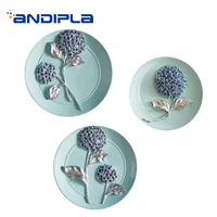 Pastoral Style Handmade Resin Flower Plate Wall Decoration for Wedding Gifts Household Desktop Crafts Dish Ornaments Souvenirs