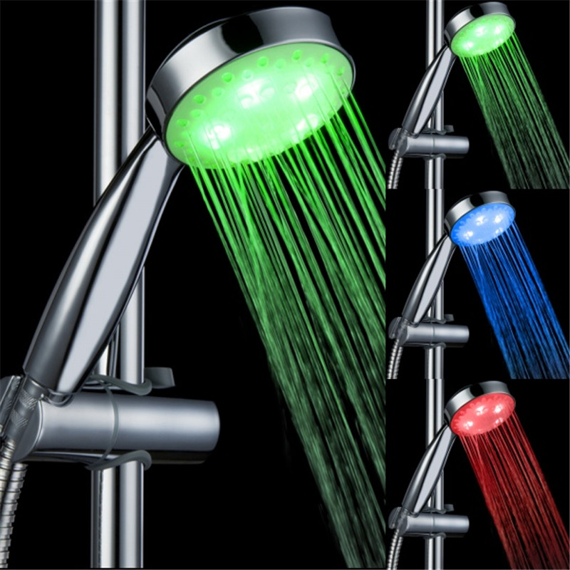 Bon LD8008 A15 Plastic Temperature Detectable Led Shower Head Led Hand Shower  With Lights Without Color Box In Shower Heads From Home Improvement On ...