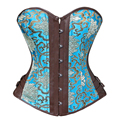 Стимпанк одежда женщины плюс размер сексуальный корсет бюстье топы корсет корсет overbust белье xxl vintage style синий
