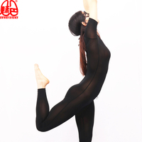 Cosplay Sexy Women ice Silk See Through Shaping Bodysuit Pantyhose Catsuit Zipper Open Crotch Erotic Lingerie Club Dance Wear 69