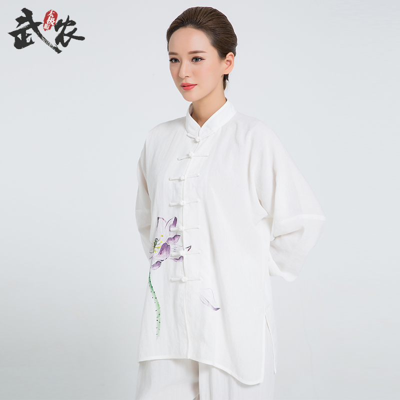 2018 New Product Tai Chi Clothing Uniform Hand Painted Tai Chi Clothing Kung Fu Clothes 8 Colors 2016 chinese tang kung fu wing chun uniform tai chi clothing costume cotton breathable fitted clothes a type of bruce lee suit
