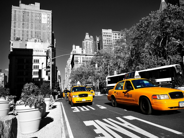 Poster New York Taxi.On Sale Frameless Canvas Paintings Posters New York Yellow Taxi