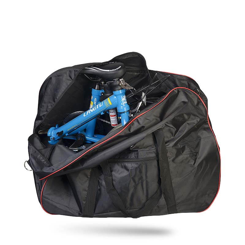 ROSWHEEL Folding Bike Bags Black 420D Polyester PVC Large Capacity Cycling Bicycle High Quality Carry Pack Storage Carrier Bag exerpeutic 1000 magnetic hig capacity recumbent exercise bike for seniors