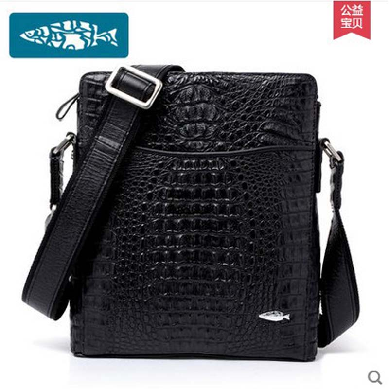 yuanyu New crocodile men bags luxury big alligator single shoulder bag  business man single shoulder bag crocodile leather bag yuanyu 2018 new hot free shipping crocodile women handbag wrist bag big vintga high end single shoulder bags luxury women bag