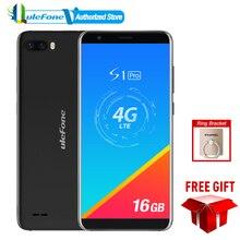 Ulefone S1 Pro Cep Telefonu 5.5 inç 18:9 MTK6739 Quad Core 1 GB RAM 16 GB ROM 8MP + 2MP yüz Kilidini Android 8.1 4G Smartphone