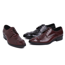 Fashion black / brown tan mens dress shoes derby shoes genuine leather business shoes formal mens wedding shoes