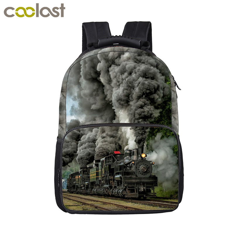 a6f9528b3c5d US $24.16 39% OFF|Locomotive / Steam Train Printing Backpack For Teenage  Boys Girls Children School Bags Women Men Laptop Backpack Kids Bag-in ...