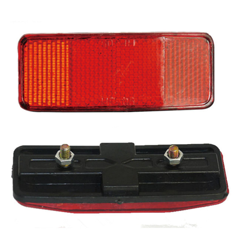 Bicycle Plastic Side Light Reflective Taillights MTB Bike Safety Caution Warning Reflector Disc Rear Pannier Racks 30ST08 (1)