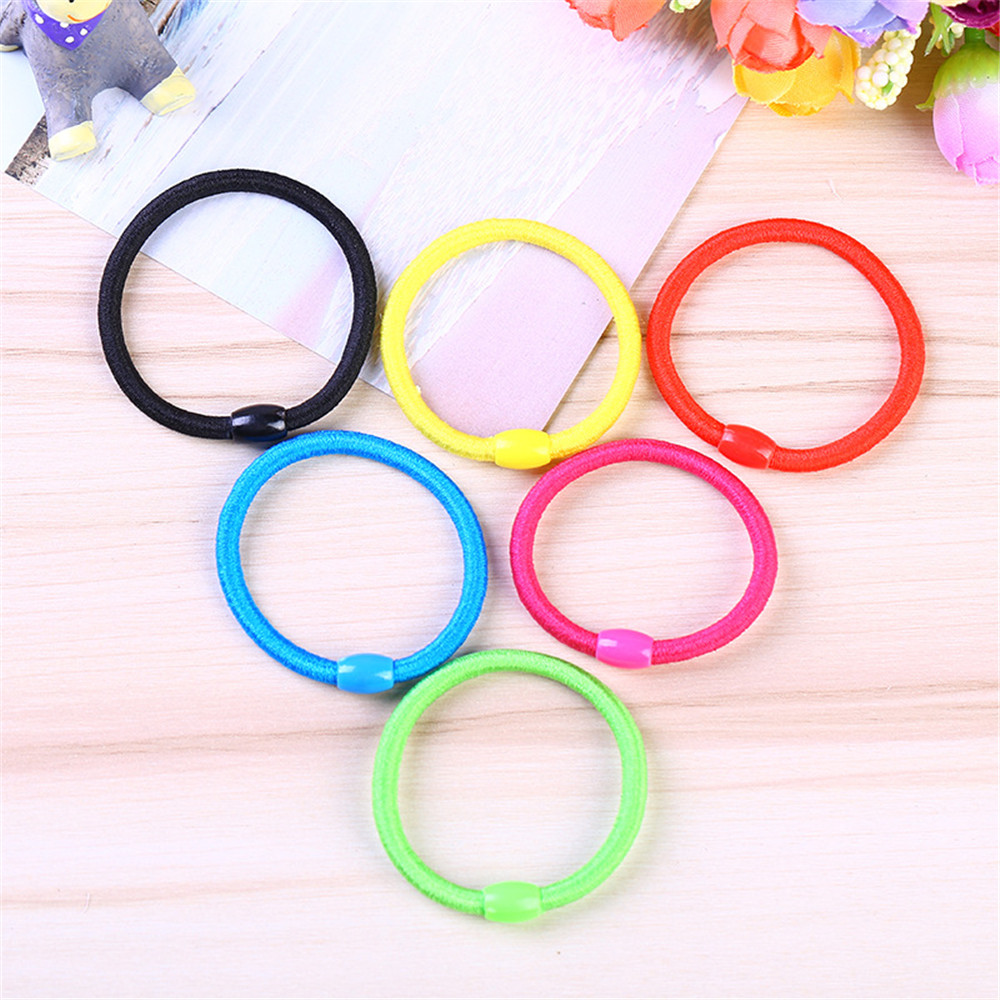 5 PC Thin Elastic Rubber Band Hairdressing Tools Colorful Elastic Hair Band Hair Holder Hair Accessories Hair Clips Random Color