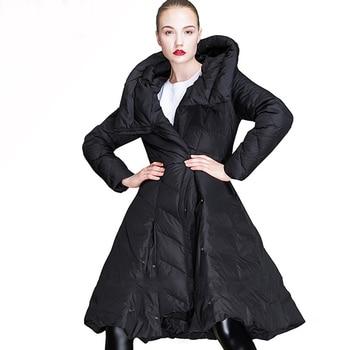 High Quality Winter Coat Women 2019 Winter Jacket Women Hooded Long Down Parka Female 90% White Duck Down Jacket Thick Warm Coat