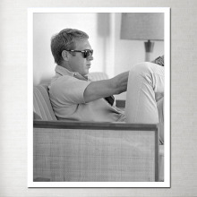 Steve Mcqueen Canvas Poster Photo Panels The Wall Paintings for Room Black and White Display Decoration on Y-01
