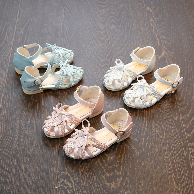 girls sandals girl shoes 2017 party princess children wedding shoe toddler kids leather summer size 21