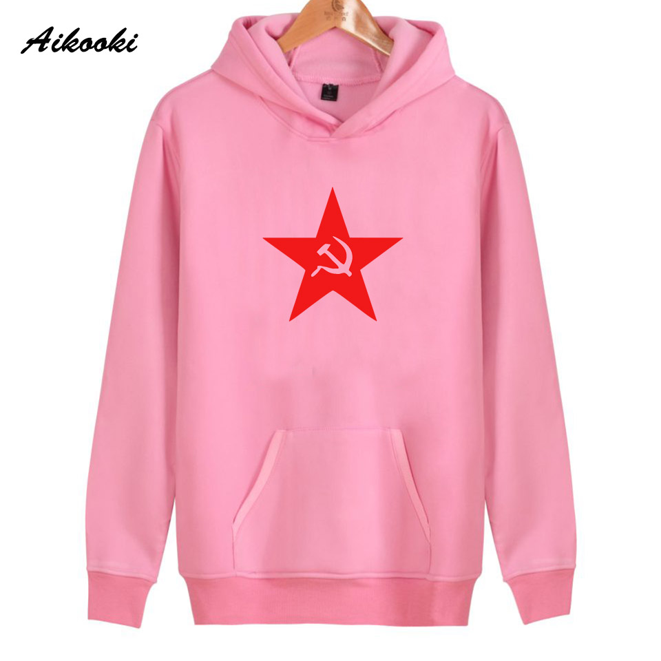 2018 Aikooki Unique CCCP Hoodies Women/Men Fashion High Quality Cotton Harajuku Womens Hoodies and Sweatshirt Clothes