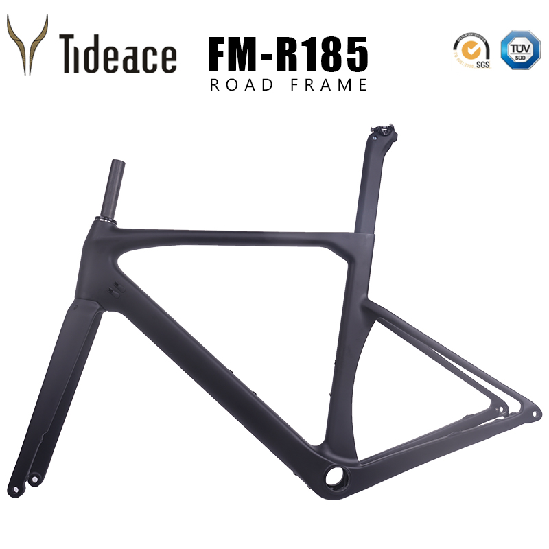 Taiwan Quality Flat Mount Disc Brake Road Carbon Frame 2019 Axle 142*12mm Di2 UD Carbon Fiber Road Bicycle Frameset Disc Brake
