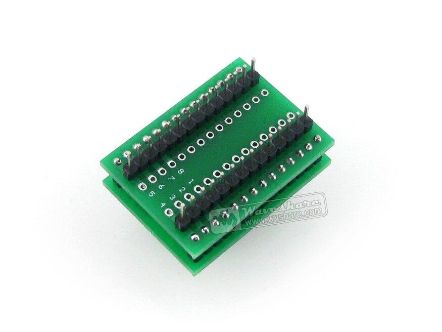 Waveshare SSOP8 à DIP8 (A) TSSOP8 MSOP Wells prise de Test IC 656-1082211 adaptateur de programmation pas de 0.65mm - 4