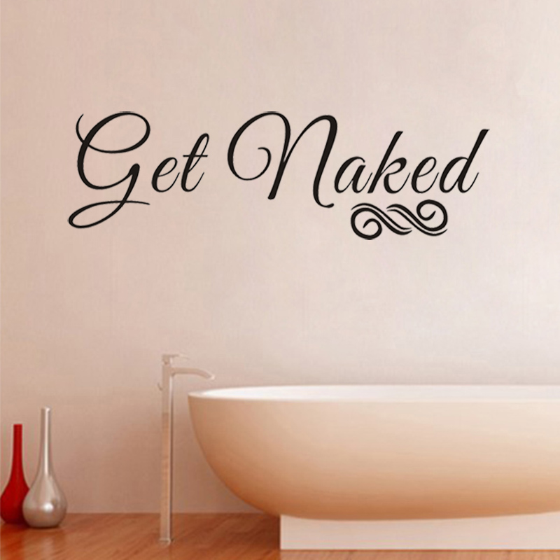 Jjrui bathroom get naked funny wall art sticker decal graphic transfer wall stickers vinyl wall decal in wall stickers from home garden on