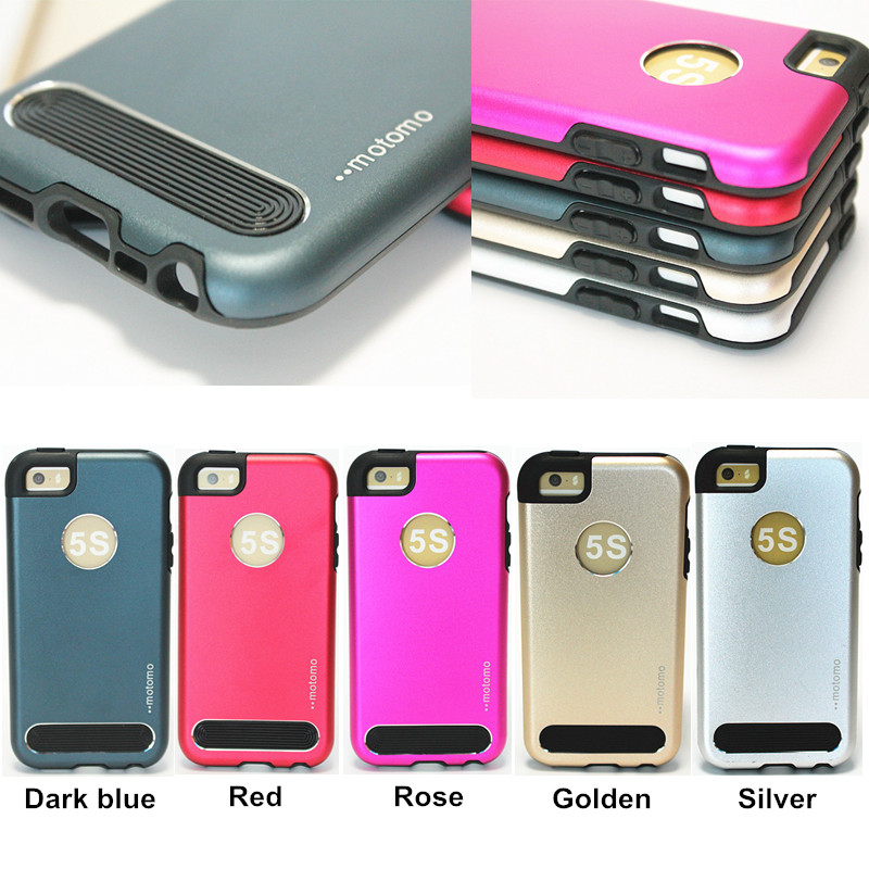 sale retailer da9c8 0ca60 US $4.68 |With retail package , Phone Cases For Apple iPhone 5 5s Motomo  Luxury metal Aluminum+TPU 6 colors shockproof Back Cover on Aliexpress.com  | ...