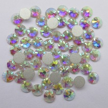 SS3-SS50 Clear White AB Nail Rhinestones for Art Glitter Crystals Decorations DIY Non HotFix Rhinestone Decor strass stones