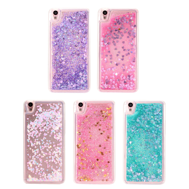 Glitter Dynamic Liquid Quicksand Cover For OPPO A33 A37 A53 A57 A59/F1S R7 R7S R9/F1 Plus R9S Plus Soft Silicone Phone Case Capa