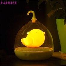High Quality   LED Nightlight Lamp Touch Sensor Bird Light Home Decor Bedroom
