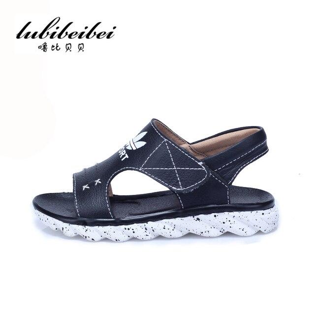 Детская обувь 2017 ребенок мужского пола сандалии детские сандалии натуральная кожа большой мальчик обувь детская обувь кожаные сандалии мальчиков мокасины обувь