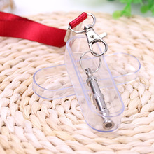 2PCS Stainless Steel Dog Training Two-tone Ultrasonic Flute Silver Whistle Adjustable Sound Pet Products Keychain sales