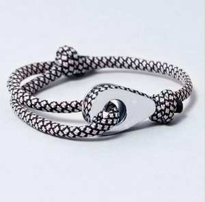 March New Products Stainless Steel Thimble with Adjustable Leather Cord Bracelet