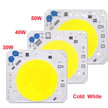 10 PCS/LOT Hight Puissance LED COB 30W 40W 50W Lamp AC220 V Free Drive Light Source Smart IC Pour led cob lamp chip