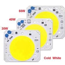 10 PCS/LOT Hight Puissance LED COB 30W 40W 50W LED Lamp AC220 V Free Drive Light Source Smart IC Pour led cob lamp chip