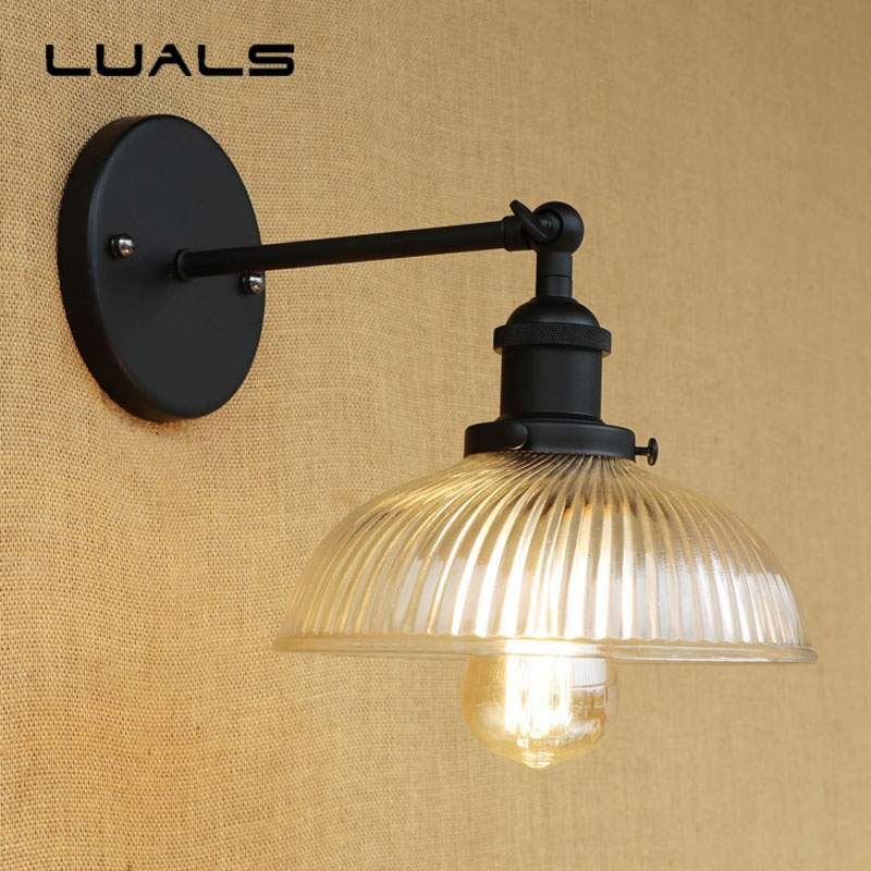 Loft Rural Style Retro Wall Light Personality Edison Wall Lamp Cafe Bar Creative Industrial Wall Lights Aisle Deco Art Lighting купить