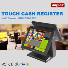 Anypos Dual Screen POS Touch System, All In One POS Dual Screen desktop computer point-of-sale Restaurant Equipment(China (Mainland))