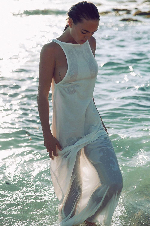 586c0c0d74 Fashion Women Sexy Summer Beach Dress Tunic Chiffon White Backless Maxi  Long Dresses Bikini Boho Sun Dress Beachwear-in Dresses from Women's  Clothing on ...