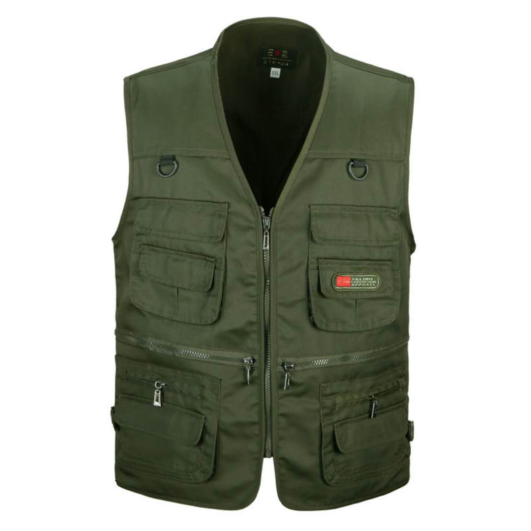 More Than 2020 Men Mesh Vest Pocket Tooling Vest Summer Thin Multi-function Vest