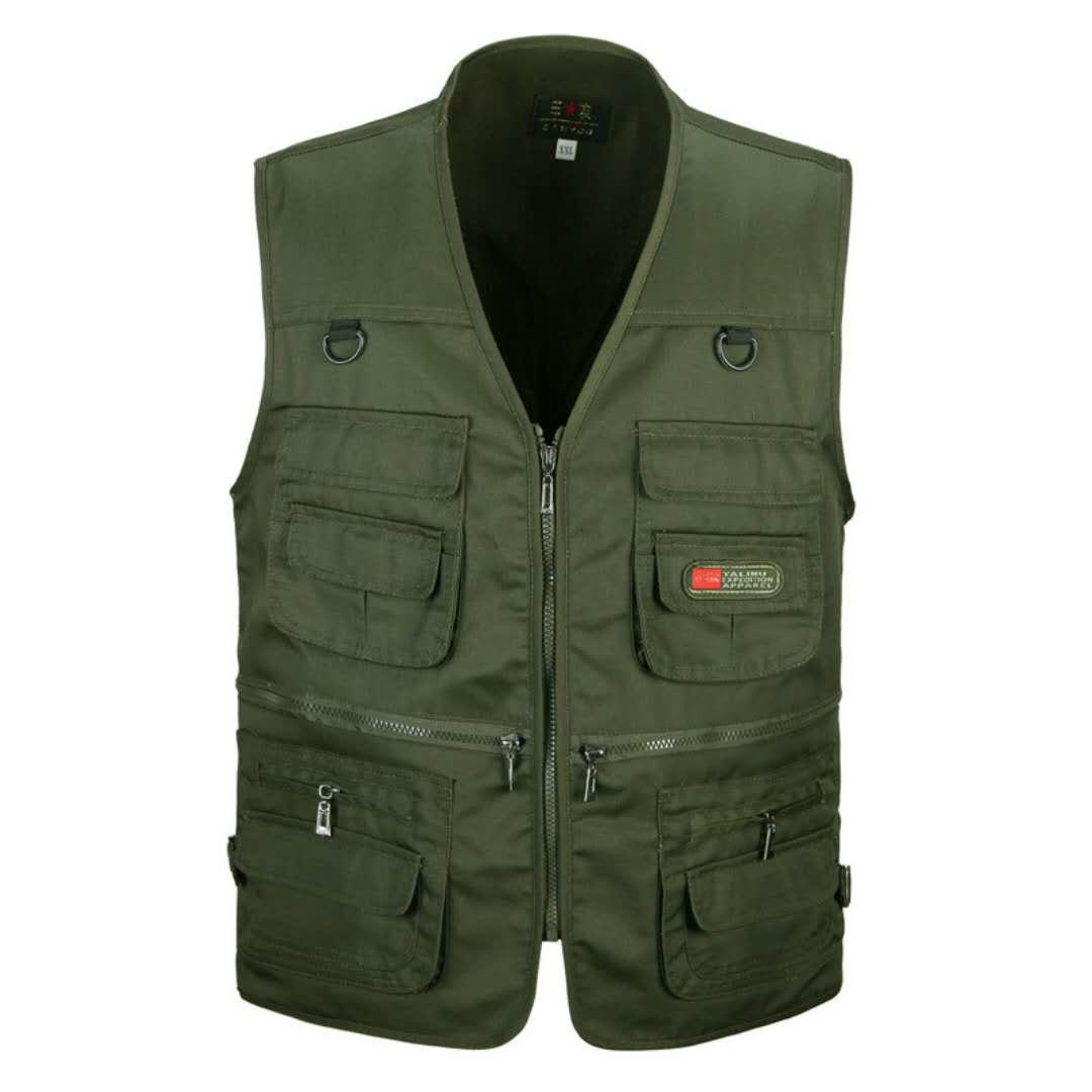 More Than 2020 Men Mesh Vest Pocket Tooling Vest Summer Thin Multi-function Vest