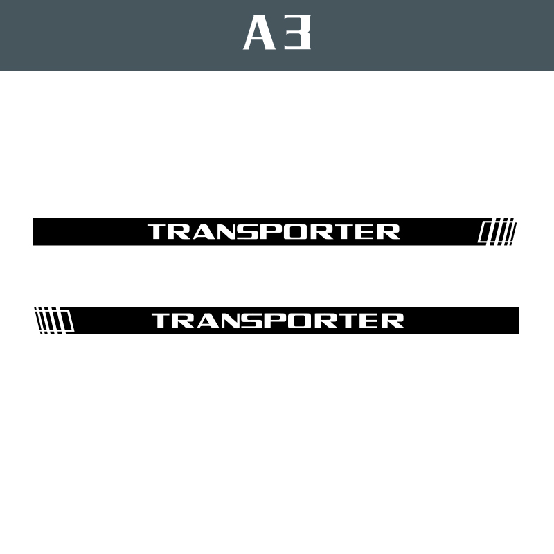 Image 5 - 2 PCS Vinyl Car Styling Transporter Side Skirt Sticker Decals Stripe Wraps Body Stickers For Volkswagen Transporter-in Car Stickers from Automobiles & Motorcycles