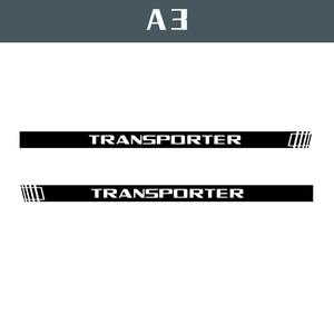 Image 1 - 2 PCS Vinyl Car Styling Transporter Side Skirt Sticker Decals Stripe Wraps Body Stickers For Volkswagen Transporter
