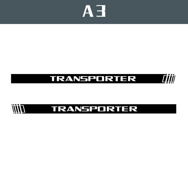 2 PCS Vinyl Car Styling Transporter Side Skirt Sticker Decals Stripe Wraps Body Stickers For Volkswagen Transporter