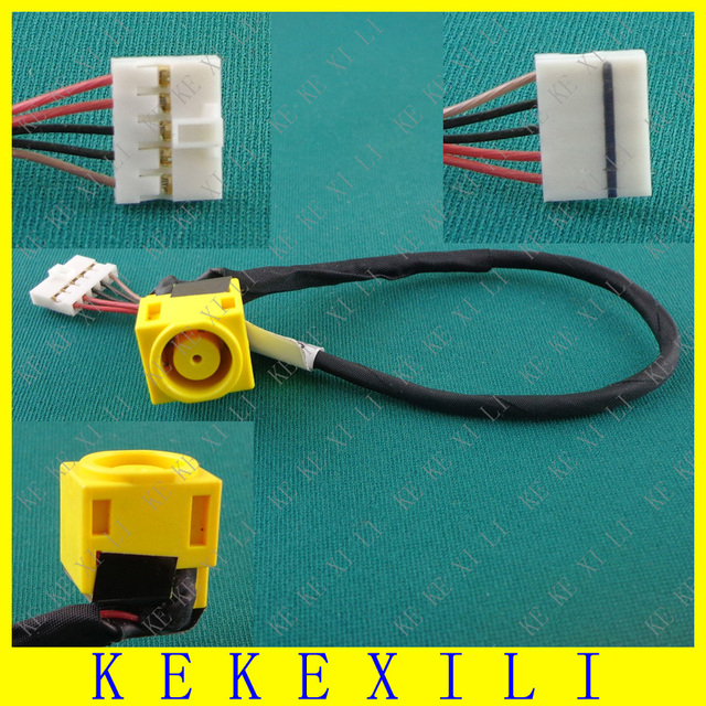 1PCS New DC Power Jack Socket Connector Wire Harness for Lenovo V580 V580A V580C B580 B590 M590 DC Jack with cable