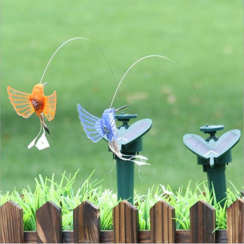 Solar Powered Elektrische Rotierende Schmetterling Hummingbird Dekorative pet hund katze Spielzeug Fly Simulation Schmetterling pet lustige spielzeug