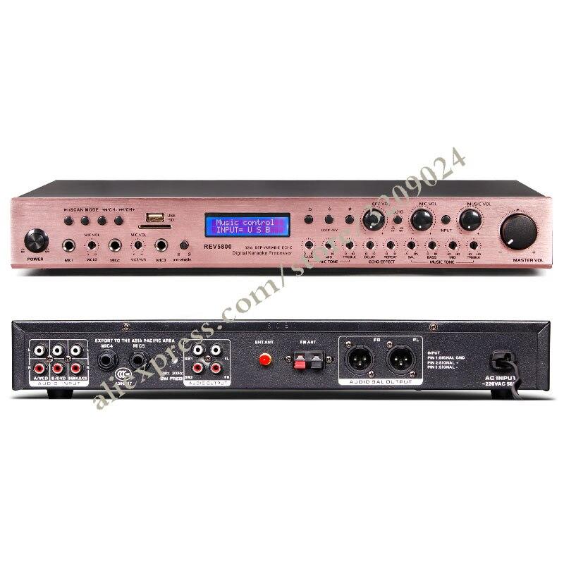 Micro à affichage numérique professionnel pré-effets KTV karaoké USB réverbération vocale système de micro Anti-hurlement