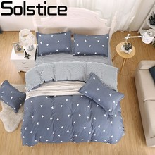 Solstice Geometric Cartoon Pattern Boy Girl Adult Bedclothes 4pcs Bedding Set Cotton Bed Cover Bed Sheet Duvet Cover Pillowcase