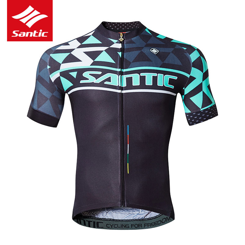 2017 Santic Pro Short Sleeve Cycling Jerseys Breathable MTB Road Bike Jersey Anti-Slip Quick Dry Outdoor Sports Bicycle Clothing 2016 couple long sleeve bike riding jerseys sets quick dry gel breathable pad stretchable 3d cutting cycling clothing equipment