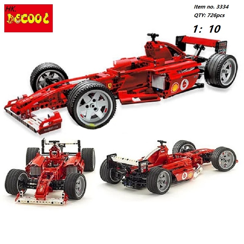 Decool Formula F1 Racing Car 1:10 Model 3334 726pcs action figure toys Bricks toys for Children FIT for LEGO technic Ferrarie цена