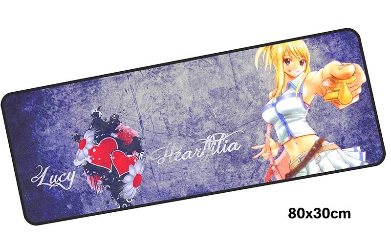 FAIRY TAIL mousepad gamer 800x300X3MM gaming mouse pad large HD pattern notebook pc accessories laptop padmouse ergonomic mat