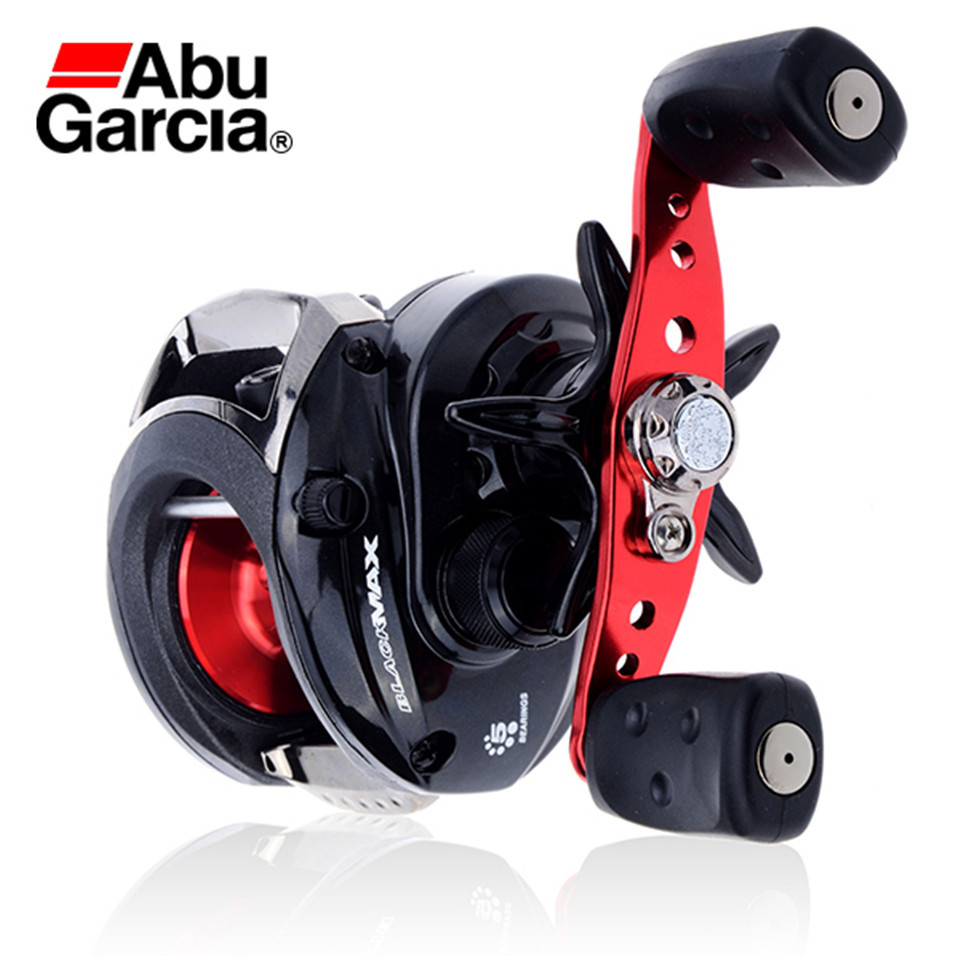 Right Hand Baitcasting Reel Saltwater Carretilha Abu Garcia Bmax2 Black Max Casting Wheel 4+1BB 6.4:1 rover drum saltwater fishing reel pesca 6 2 1 9 1bb baitcasting saltwater sea fishing reels bait casting surfcasting drum reel
